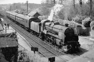 31632 at Fordingbridge Station, Spring 1964